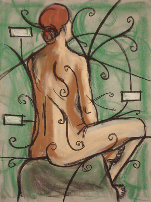 untitled drawing of trish 002