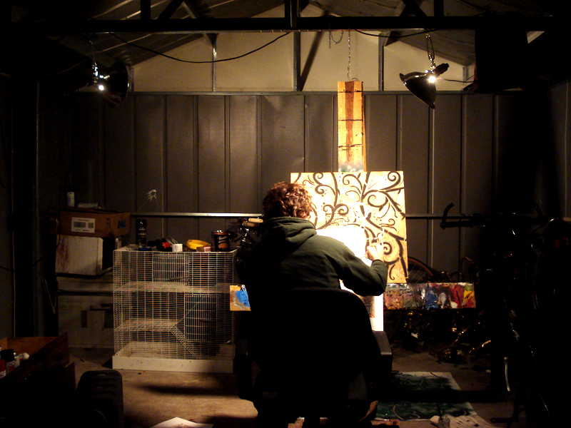 in the shed studio