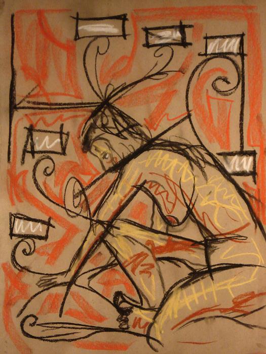 untitled drawing of avye 001