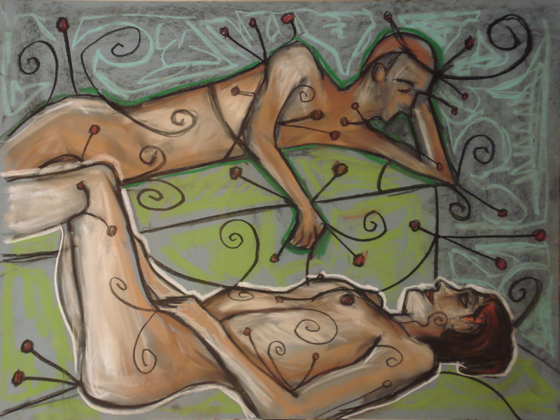 untitled drawing of couple 003
