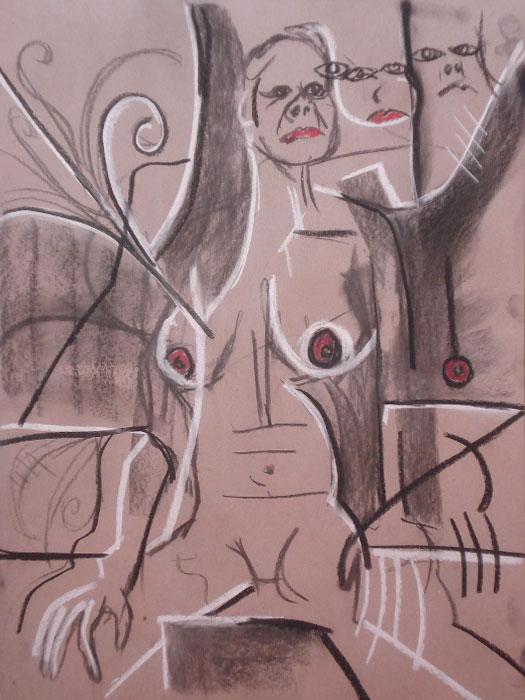 untitled drawing of trish 008
