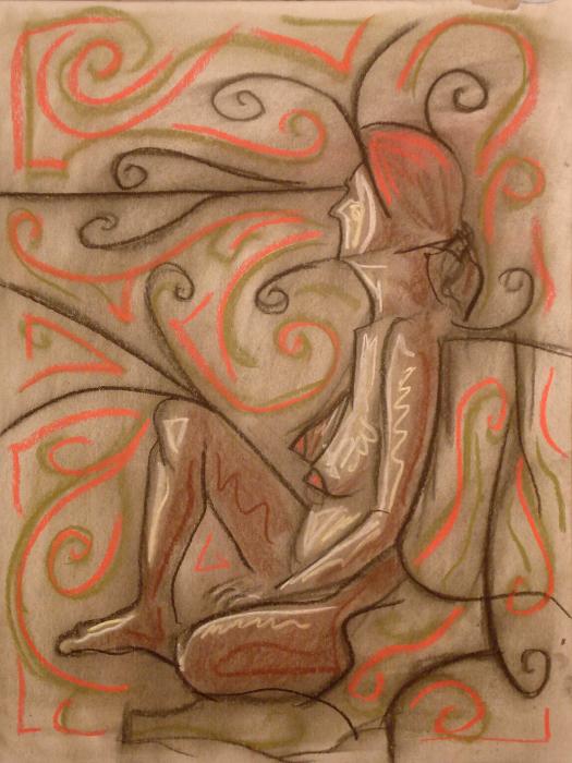 untitled drawing of trish 011