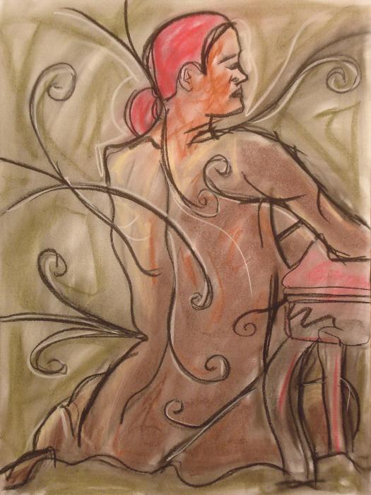 untitled drawing of trish 013