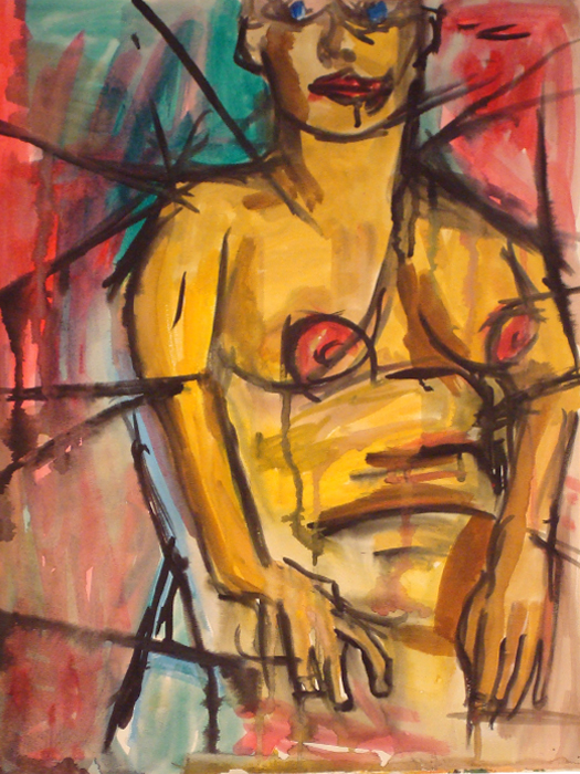 untitled painting of shelly 001