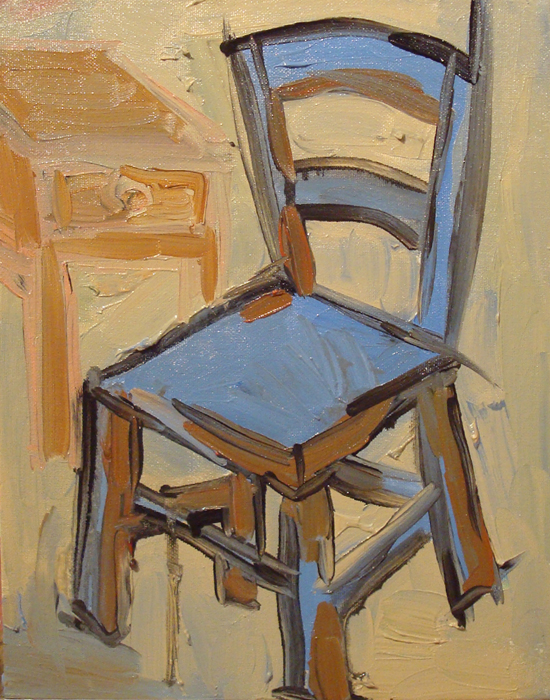 blue chair with stand