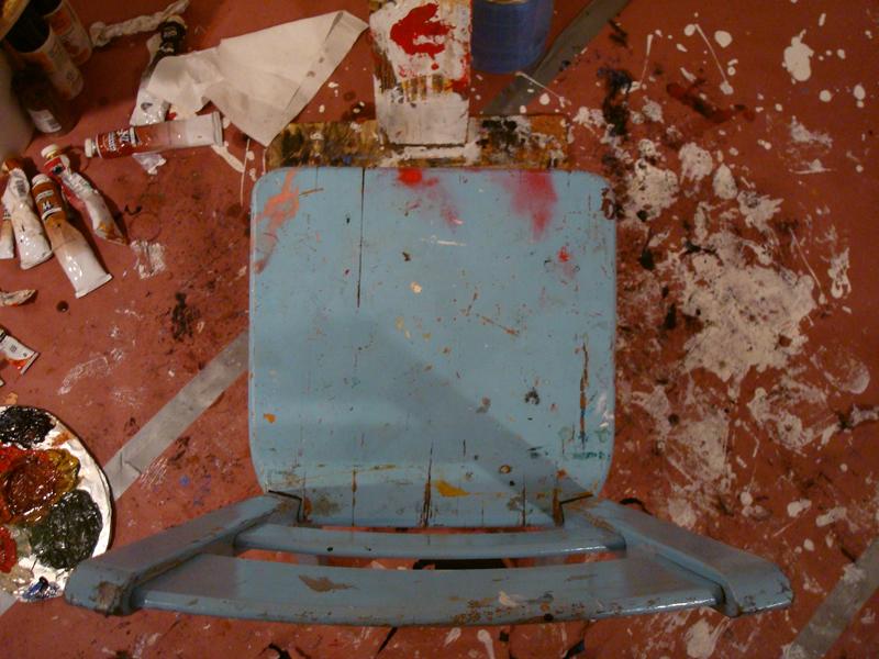 blue chair top down