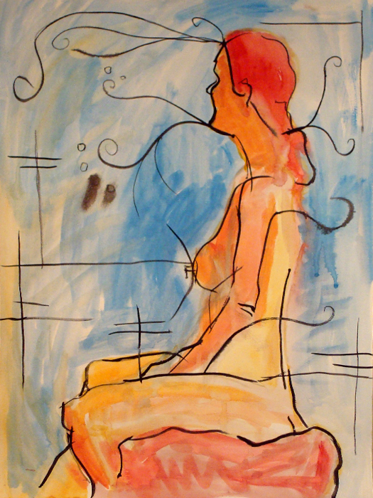 untitled painting of trish 001