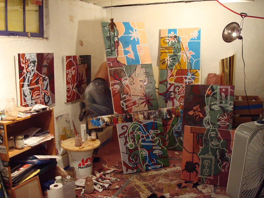 with ten new paintings
