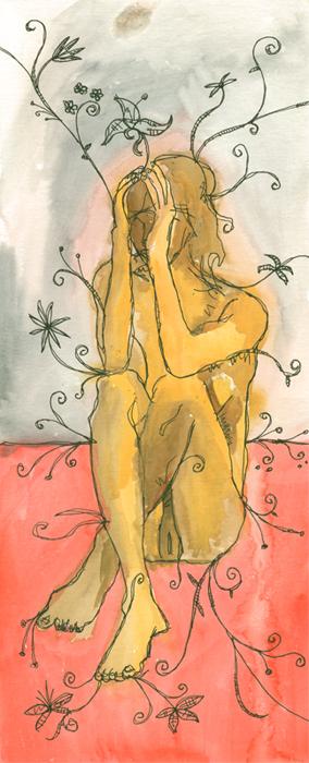 untitled painting of dana 001