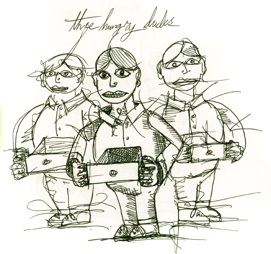 three hungry dudes