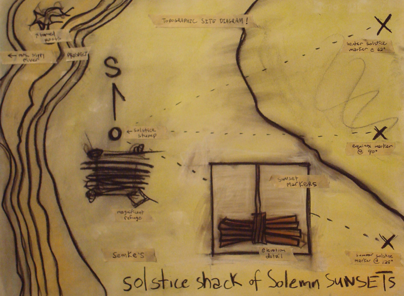 topographic map of the site