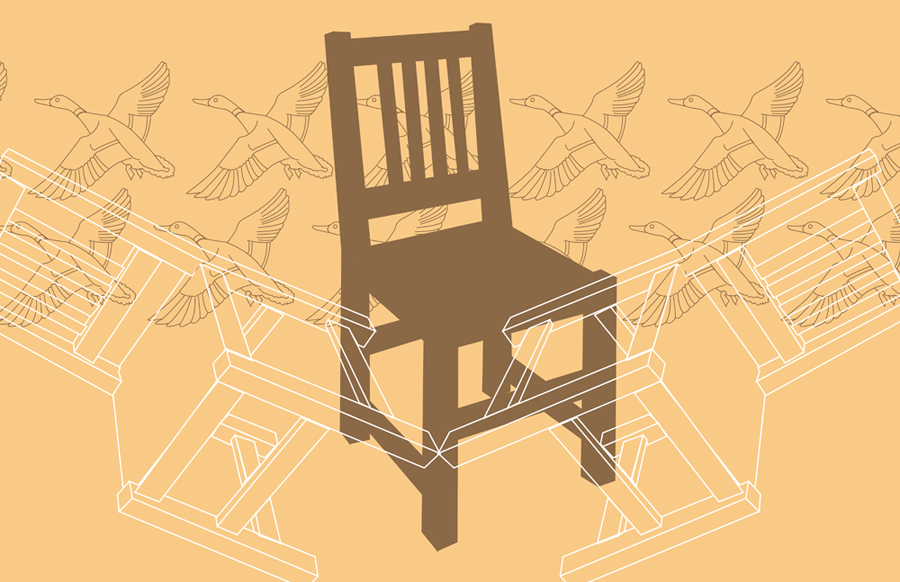 chair fight with mallards