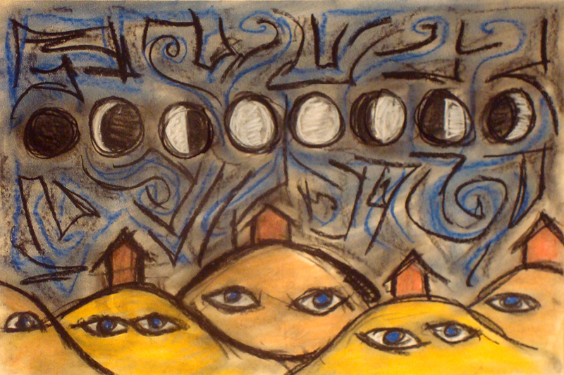 houses and backwords moon cycles