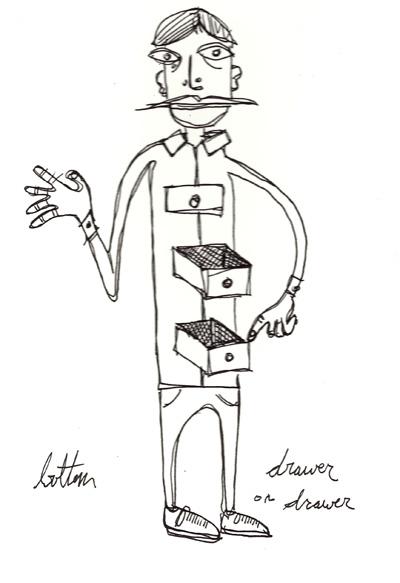 bottom drawer or drawer