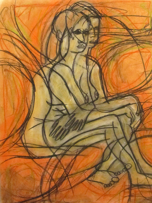 untitled drawing of rachel 003