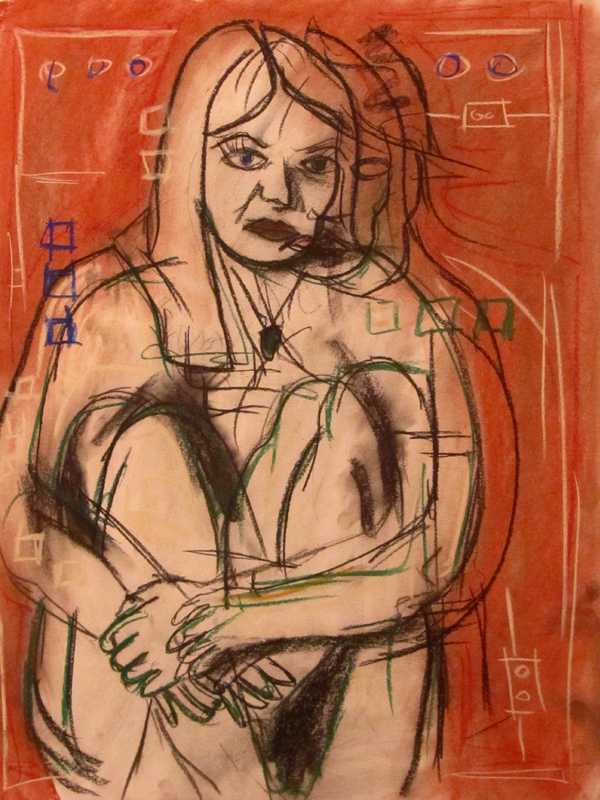 untitled drawing of kristin 003
