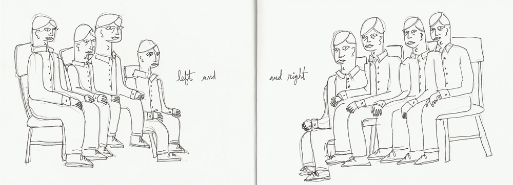 left and and right