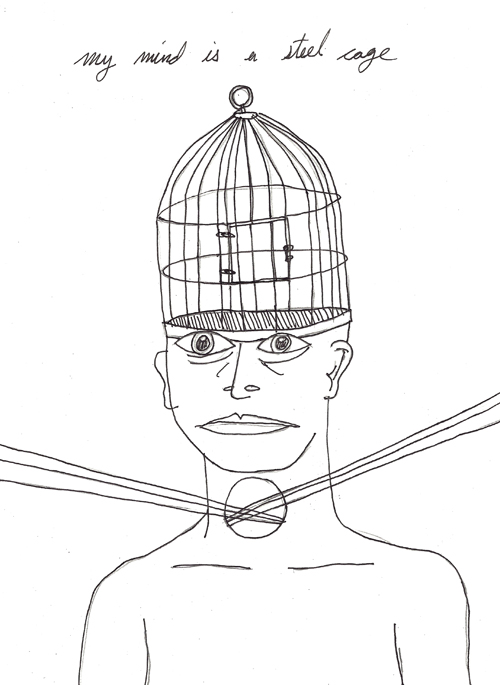 my mind is a steel cage
