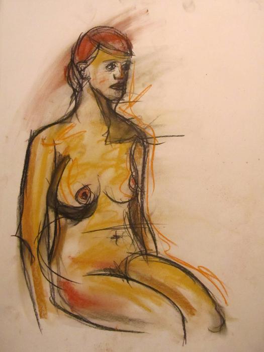 untitled drawing of kiki 002