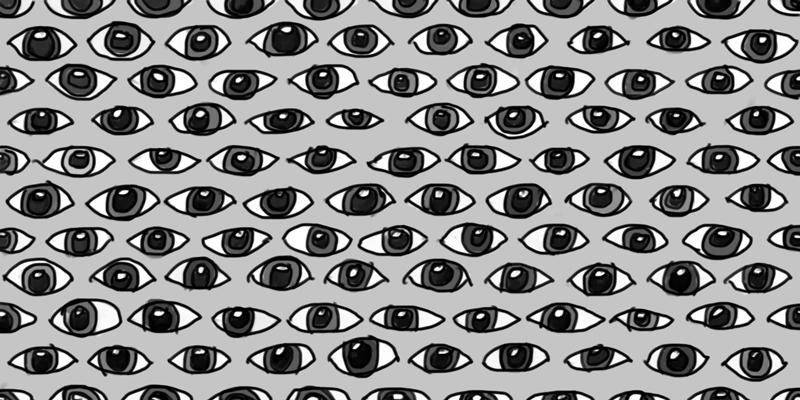 making eyes