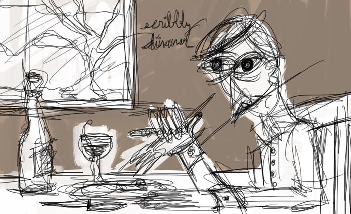 scribbly dinner