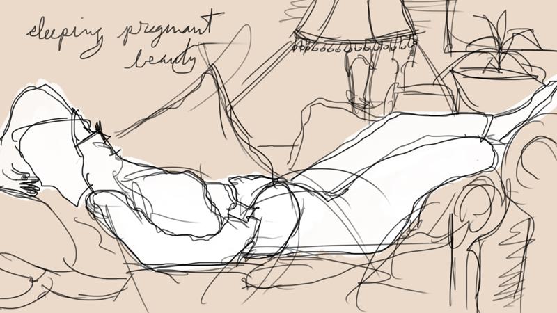 sleeping pregnant beauty