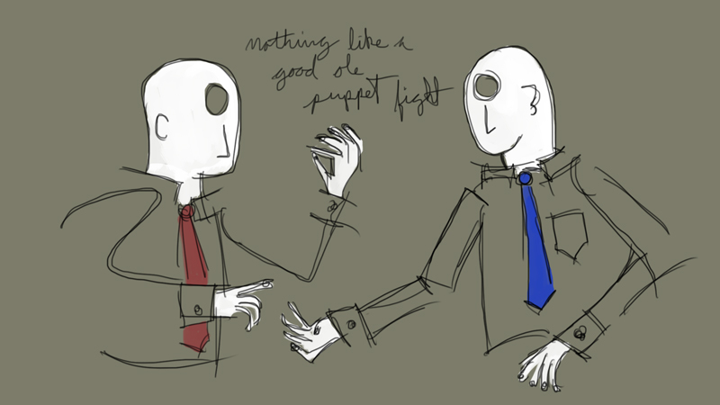 nothing like a good ole puppet fight