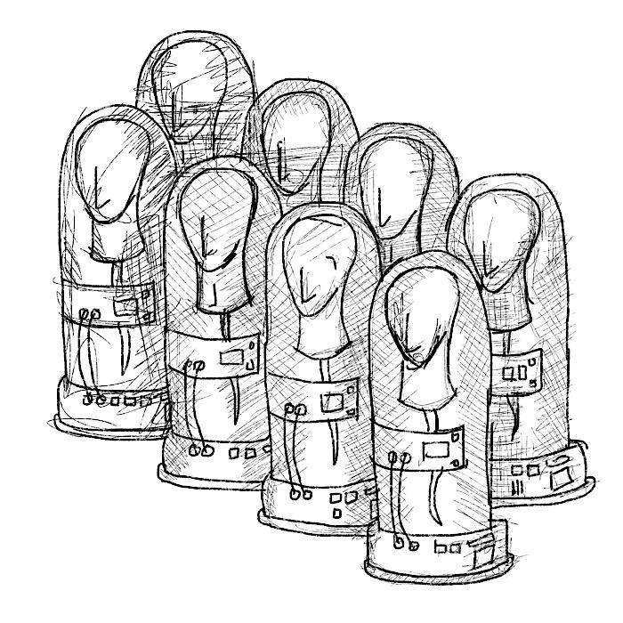 Eight tubes