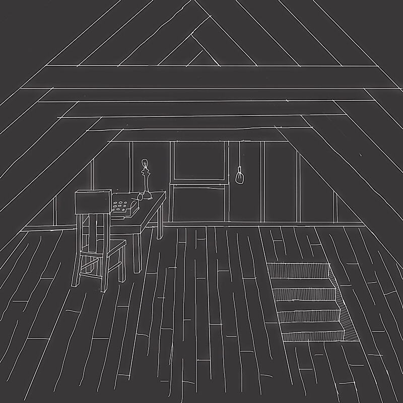 attic writing space