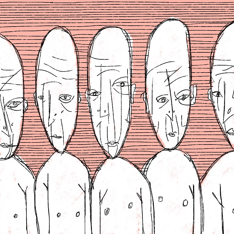wrinkled foreheads