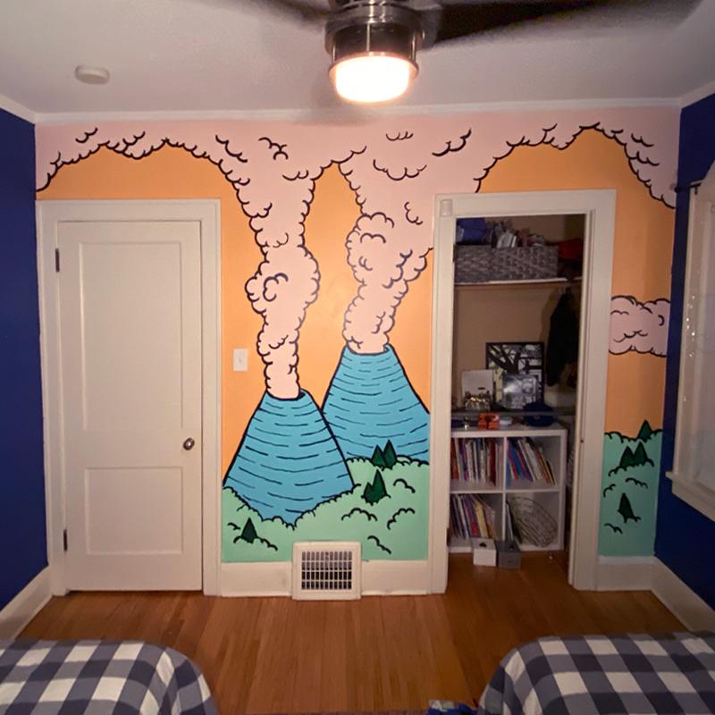 day seventeen bedroom mural
